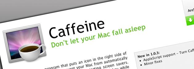 caffeine fe 15+ Systemverktøy og små nytteprogrammer for Mac