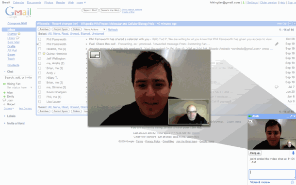 gmail video chat Google lanserer lyd  og videosamtaler i Gmail