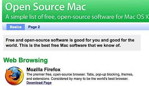open source mac free mac software all open source all os x Tidenes kilde liste over gratisprogrammer for Mac