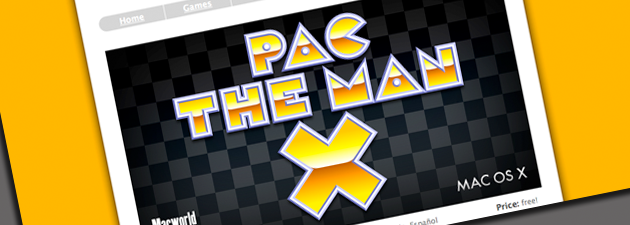 pacman features Pac The Mac X: Morsom klone av Pac Man [Mac]