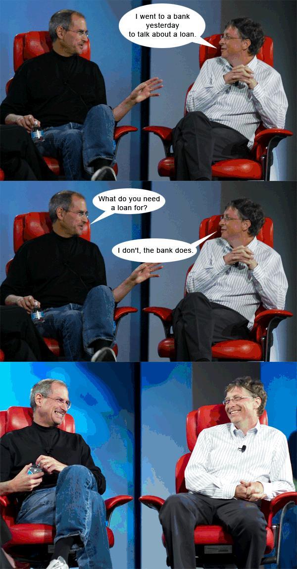steve jobs bill gates humor 3 Verden er ikke lik for alle   nerdehumor