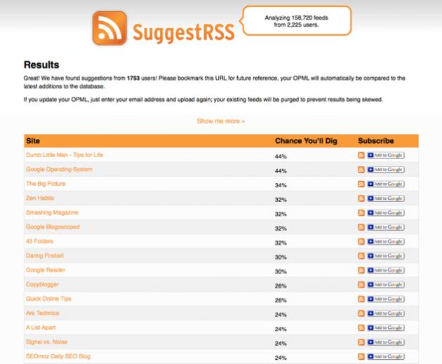suggestrss2 630x519 Slik finner du nye nettsider og blogger basert på dine interesser