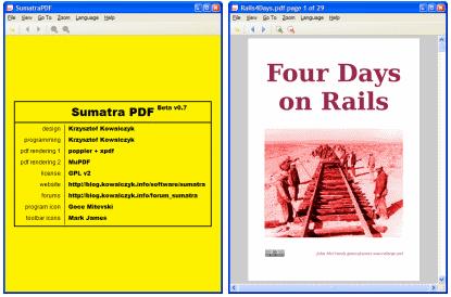 sumatraskjerm SumatraPDF   ein PDF lesar enkelt og greit