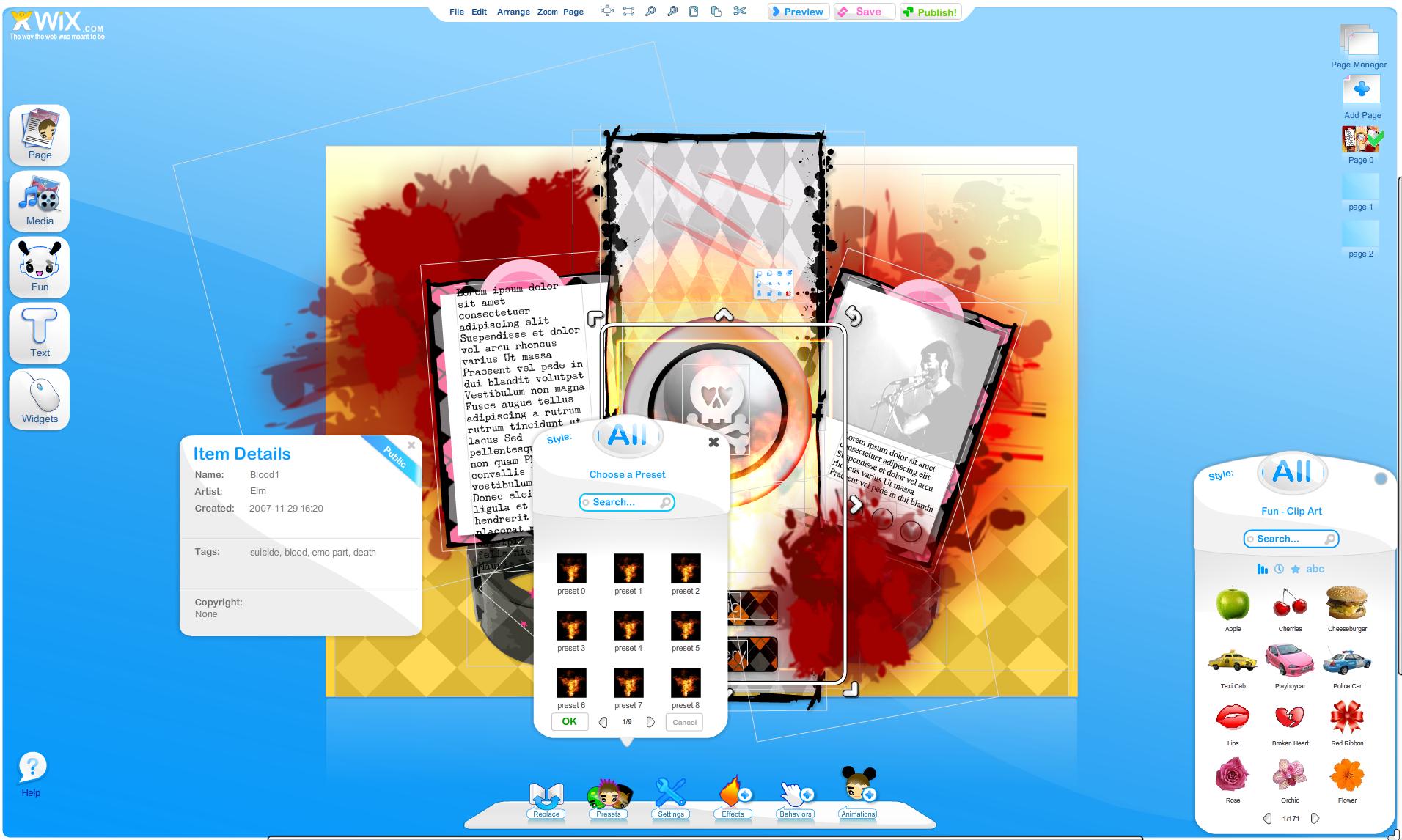 wix shot1 Wix   Hvem som helst kan lage en innbydende nettside uten en linje kode